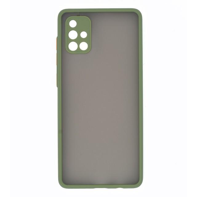 قاب گوشی سامسونگ Galaxy A71 4G پشت مات محافظ لنز دار مدل M-LNZ