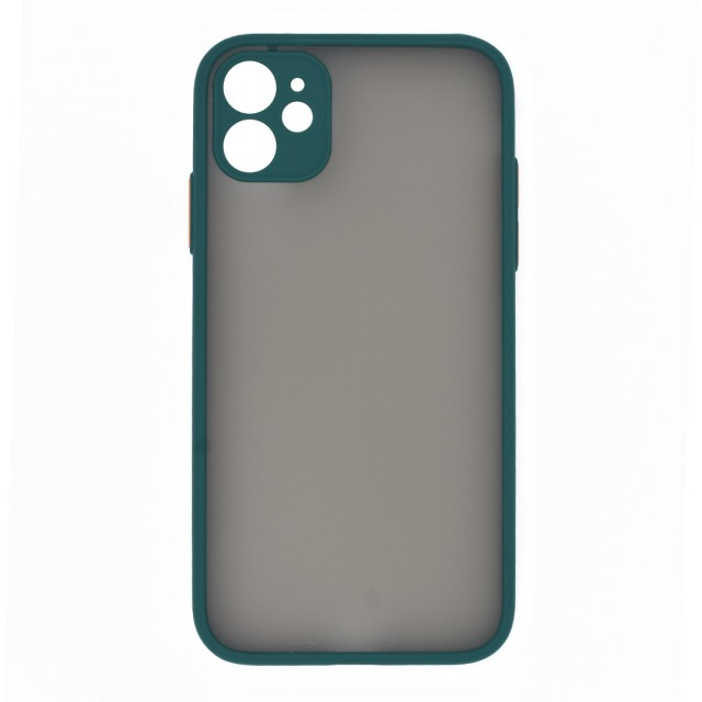 قاب گوشی اپل iPhone 11 پشت مات محافظ لنز دار مدل M-LNZ