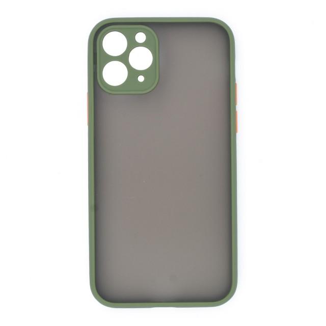 قاب گوشی اپل iPhone 11 Pro پشت مات محافظ لنز دار مدل M-LNZ