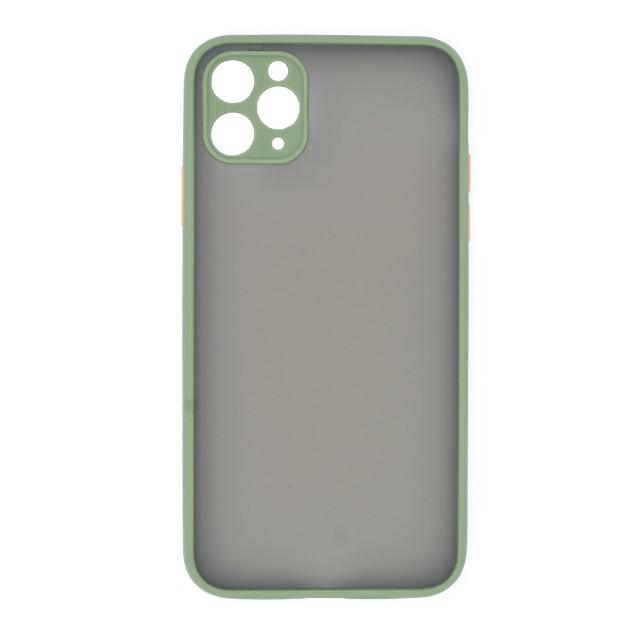 قاب گوشی اپل iPhone 11 Pro Max پشت مات محافظ لنز دار مدل M-LNZ