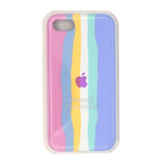 قاب گوشی اپل iPhone SE2020 سیلیکونی رنگین کمانی زیر بسته مدل Rainbow-01