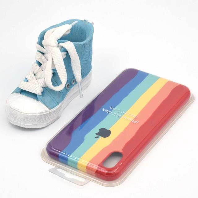 قاب گوشی اپل iPhone XS Max سیلیکونی رنگین کمانی زیر باز مدل Rainbow-02