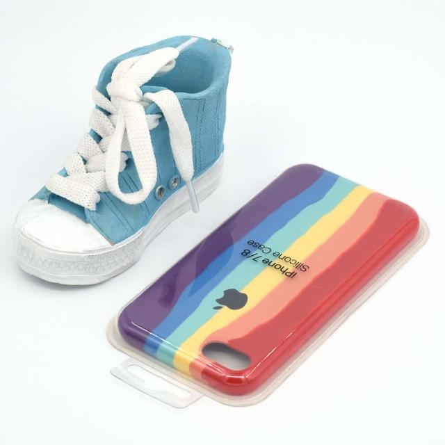 قاب گوشی اپل iPhone 7/8 سیلیکونی رنگین کمانی زیر باز مدل Rainbow-02