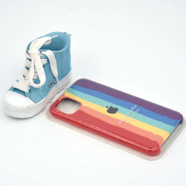 قاب گوشی اپل iPhone 11 Pro Max سیلیکونی رنگین کمانی زیر باز مدل Rainbow-02