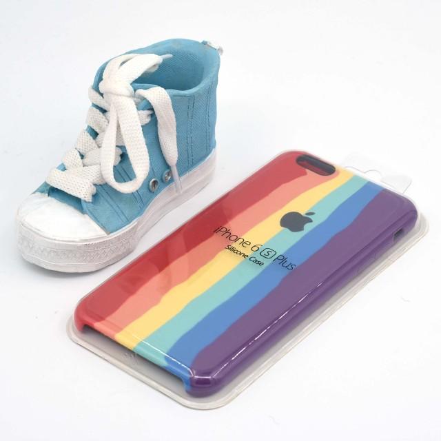 قاب گوشی اپل iPhone 6/6s Plus سیلیکونی رنگین کمانی زیر باز مدل Rainbow-02