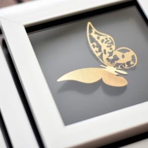 تابلو دکوری طرح پروانه ست 3 عددی