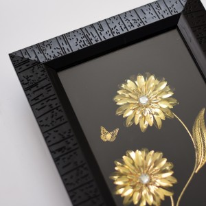 تابلو دکوری طرح گل و پروانه کد KU-B02