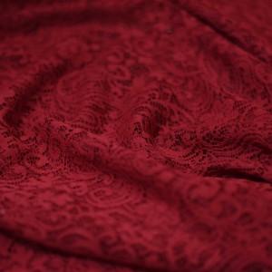 پارچه دانتل قرمز توری