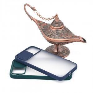 خرید قاب گوشی پشت مات کشویی محافظ لنز مدل K-MLNZ برای گوشی موبایل اپل iPhone 12 Pro