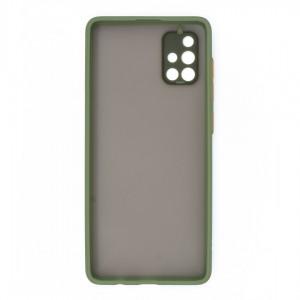 قاب گوشی پشت مات محافظ لنز دار مدل M-LNZ برای گوشی موبایل سامسونگ Galaxy A71 4G