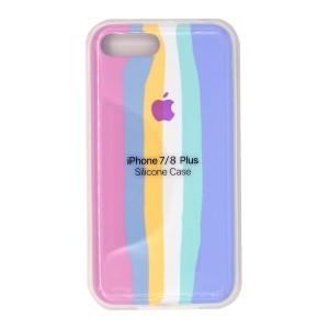خرید سیلیکونی رنگین کمانی زیر بسته مدل Rainbow-01 برای موبایل اپل iPhone 7/8 Plus