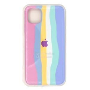 قاب گوشی سیلیکونی رنگین کمانی زیر بسته مدل Rainbow-01 برای موبایل اپل iPhone 11 Pro Max