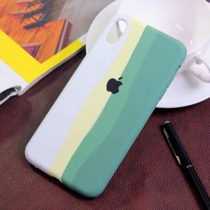 خرید قاب گوشی سیلیکونی رنگین کمانی زیر بسته مدل Rainbow-01 برای موبایل اپل iPhone XS Max