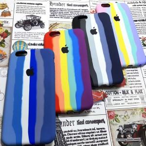 کاور گوشی سیلیکونی رنگین کمانی  iPhone 6/6s Plus