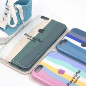 خرید قاب گوشی سیلیکونی رنگین کمانی  iPhone 6/6s Plus