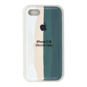 قاب گوشی سیلیکونی رنگین کمانی زیر بسته مدل Rainbow-01 برای موبایل اپل iPhone 7/8