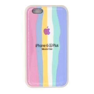 قاب گوشی سیلیکونی رنگین کمانی زیر بسته مدل Rainbow-01 برای موبایل اپل iPhone 6/6s Plus