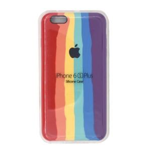 قاب گوشی سیلیکونی رنگین کمانی زیر باز مدل Rainbow-02 برای موبایل اپل iPhone 6/6s Plus
