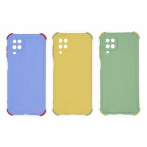 قاب گوشی ضربه گیر سیلیکونی SDR دکمه رنگی برای موبایل سامسونگ Galaxy A12