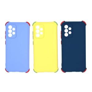 قاب گوشی ضربه گیر سیلیکونی SDR دکمه رنگی برای موبایل سامسونگ Galaxy A52 (4G-5G)