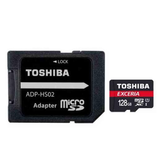 کارت حافظه توشیبا مدل SDXC UHS-3 M302 کلاس10 همراه با آداپتور- ظرفیت 128 گیگابایت