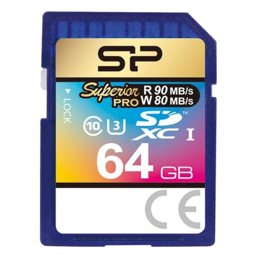 کارت حافظه سیلیکون پاور مدل SDHC Superior Pro U3 80MB/s کلاس 10 ظرفیت 64 گیگابایت