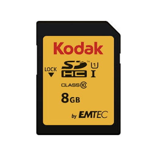 کارت حافظه کداک SDHC UHS-l U1 85MB/s کلاس 10 ظرفیت 8 گیگابایت