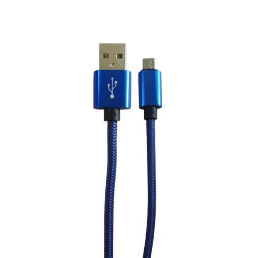 کابل شارژر تبدیل USB به MicroUSB کد 18 رنگ آبی