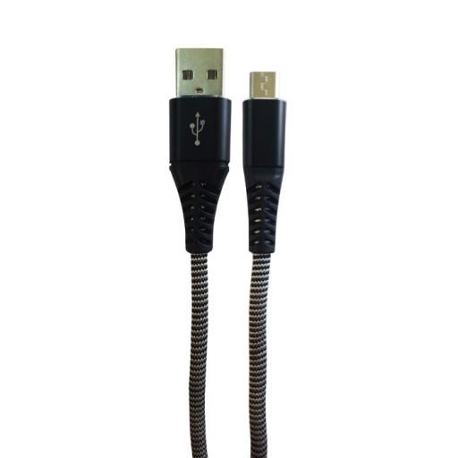 کابل شارژر تبدیل USB به MicroUSB کد 10 رنگ سفید-مشکی