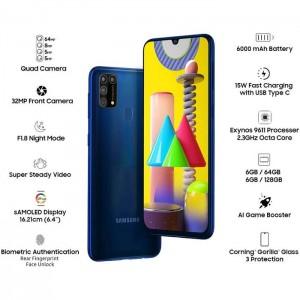 گوشی موبایل سامسونگ گلکسی M31 ظرفیت 128 گیگابایت و رم 6 گیگابایت