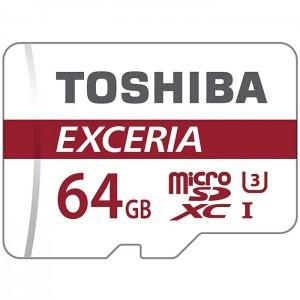کارت حافظه توشیبا SDXC UHS-I (U3) EXCERIA M302 کلاس 10 همراه با آداپتور ظرفیت 64 گیگابایت
