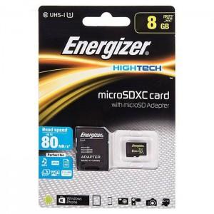کارت حافظه انرجایزر مدل Hightech کلاس 10 ظرفیت 8 گیگابایت