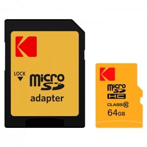 کارت حافظه کداک مدل Micro SDHC 45MB/s کلاس 10 ظرفیت 64 گیگابایت