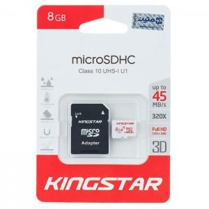 کارت حافظه کینگ استار مدل Micro SD کلاس 10 ظرفیت 8 گیگابایت