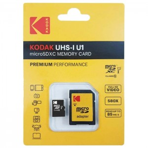 کارت حافظه کداک Micro SDXC Premium 85MB/s کلاس 10 ظرفیت 8 گیگابایت
