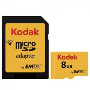 کارت حافظه کداک مدل Micro SDHC UHS-1U3 کلاس 10 ظرفیت 8 گیگابایت