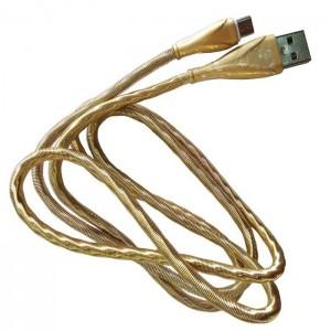کابل شارژر تبدیل USB به MicroUSB کد 14 رنگ طلایی