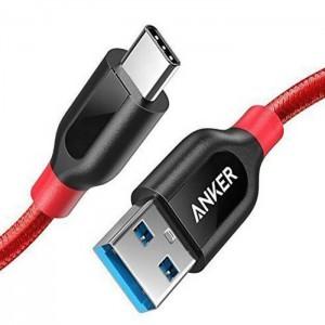 کابل تبدیل USB-C به USB 3.0 انکر مدل A8168 PowerLine Plus