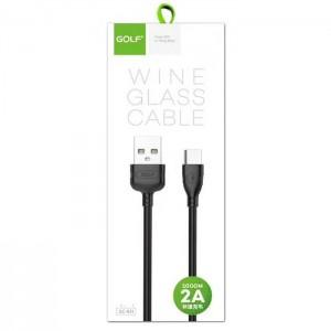 کابل شارژ USB Type-C گلف GC-63T طول 100 سانتی متر