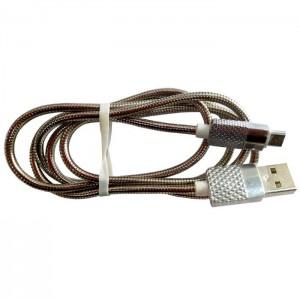 کابل شارژر تبدیل USB به MicroUSB کد 16 رنگ نقره ای