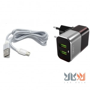 شارژر دیواری آلدینیو A2206  همراه با کابل Micro Usb