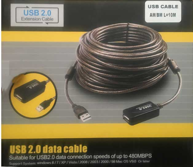 کابل افزایش طول USB به طول 10 متر