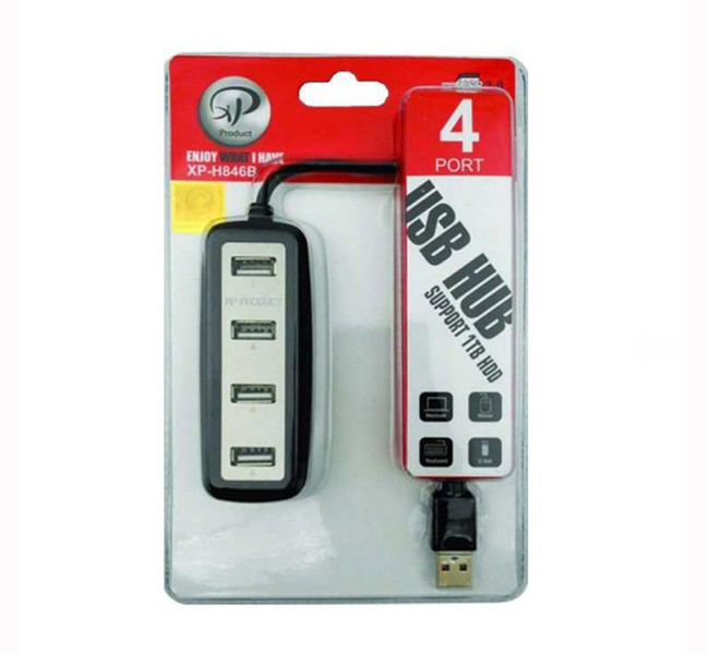 هاب 4 پورت USB 2.0 اکس پی مدل  H846