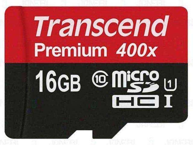 کارت حافظه Transcend Class 10 Premium 400X 16GB