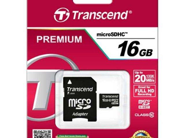 کارت حافظه Transcend Class 10 16GB
