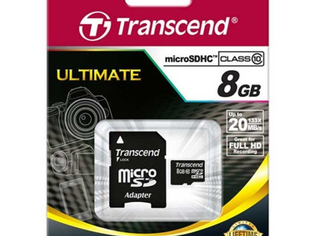 کارت حافظه Transcend Class 10 8GB