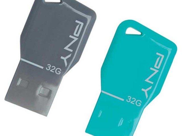 فلش مموری  PNY key attache 32GB