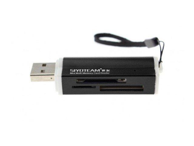 دستگاه کارت خوان Siyoteam Memory Card Reader/Writer USB All in One SY-662