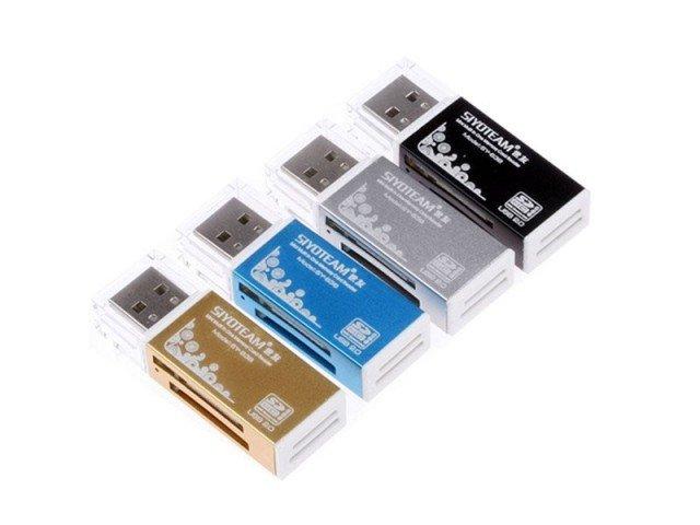 دستگاه کارت خوان Siyoteam Memory Card Reader/writer USB All in One SY-638