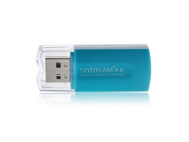 دستگاه کارت خوان Siyoteam Memory Card Reader/Writer USB All in One SY-596